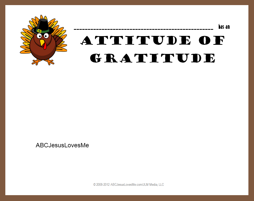 thanksgiving abc jesus loves me