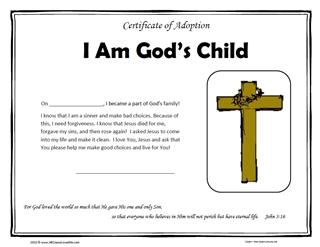 christian certificate templates