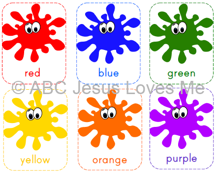 Printable Colour Flashcards : Teaching Colors ABC Jesus Loves Me