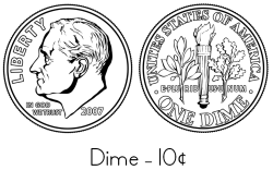 dime coloring page - photo #3
