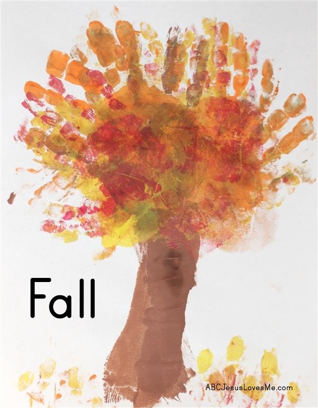 Fall Tree Handprint Craft