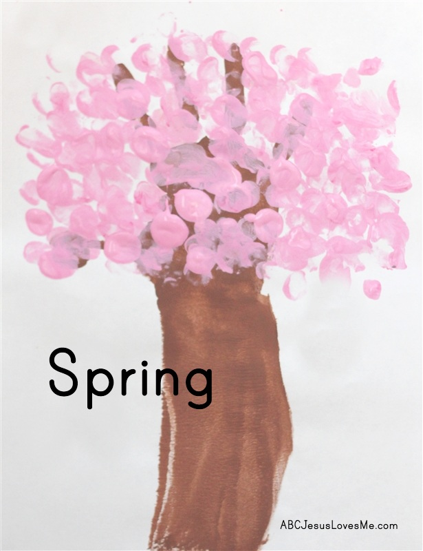 Spring Tree Handprint Craft