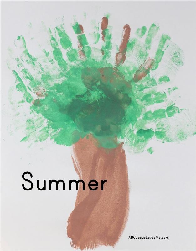 Summer Tree Handprint Craft