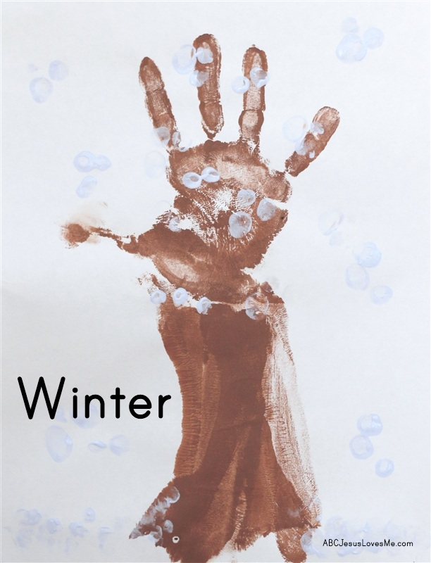 Winter Tree Handprint Craft