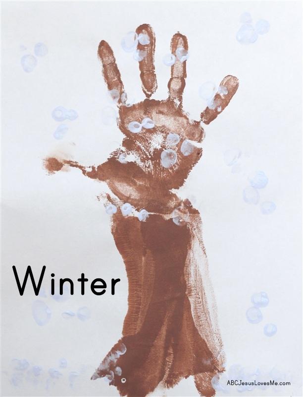 Winter Tree Handprint Craft