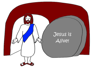 Easter abc jesus loves me for Jesus is alive craft ideas