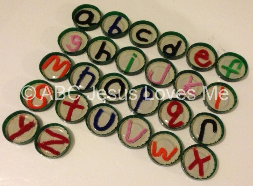 Pipecleaner Tactile Letters