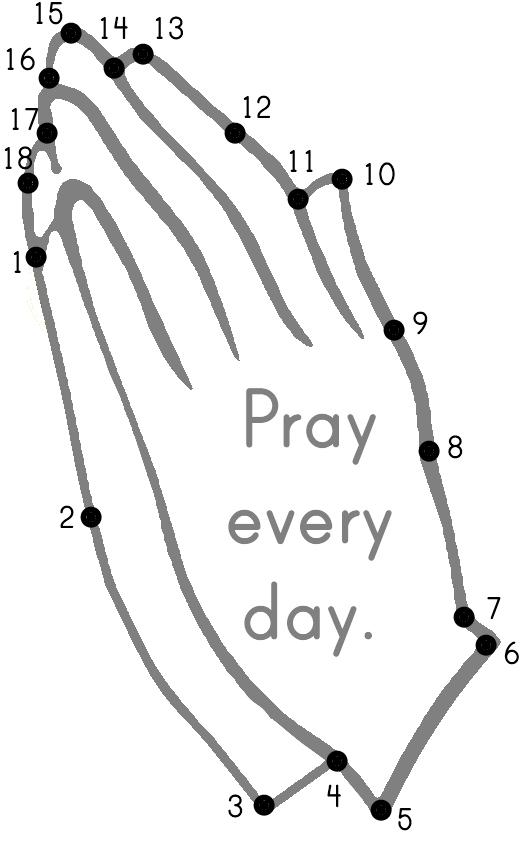 Praying Hands Dot To
