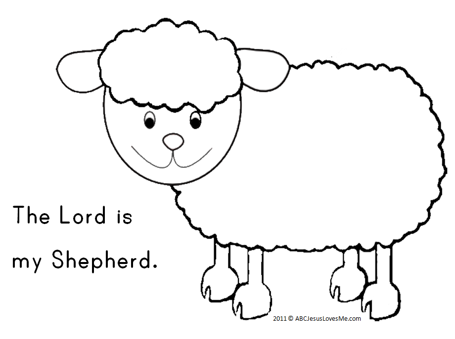 2 year week 20 abc jesus loves me for The lord is my shepherd coloring page