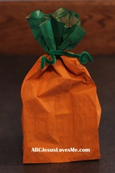 Pumpkin Bag Craft