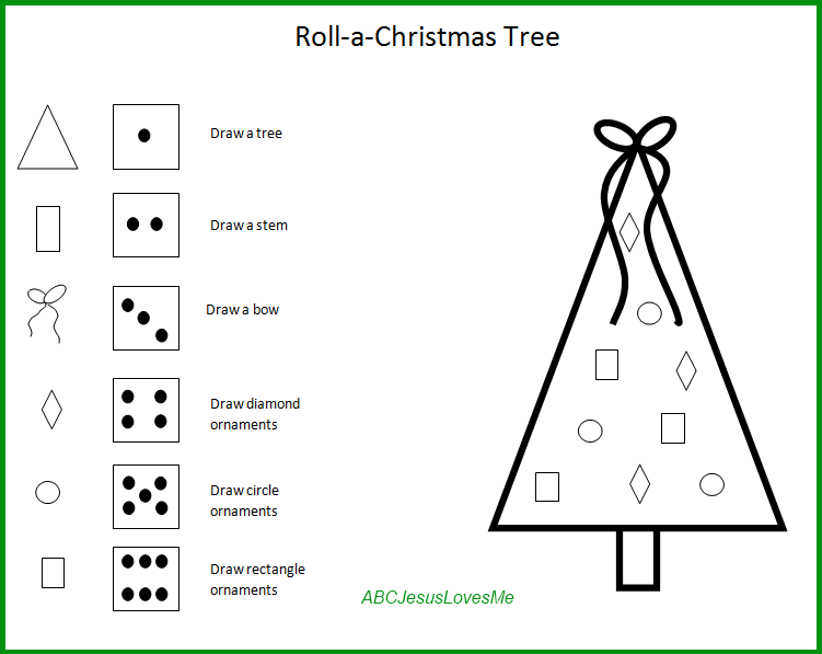 roll a valentine roll a christmas tree game - Christmas Tree Games