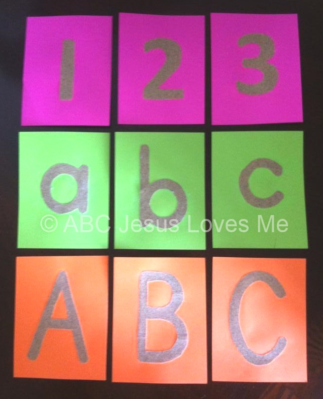 Sandpaper Tactile Letters and Numbers