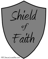 ABCJLM Bible Workbook Using The Shield Of Faith Worksheet Draw A On Piece Stiff Cardboard Cover With Aluminum Foil