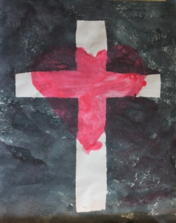 Cross Heart Painting