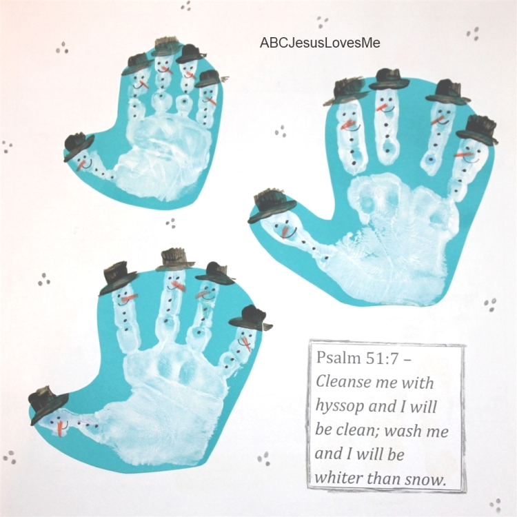 Calendar Preschool Crafts : Handprint footprint calendar abc jesus loves me