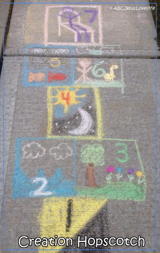 Creation Hopscotch Game for Children