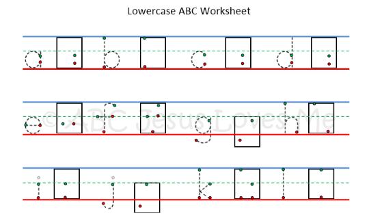Alphabet Worksheets | ABC Jesus Loves Me